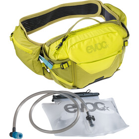 EVOC Hip Pack Pro 3 l + Drinkblaas 1,5 l, sulphur/moss green